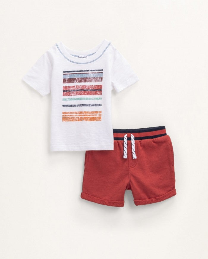 Splendid Stripe Screen Tee Set