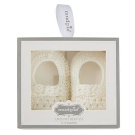 Mud Pie Boy Boxed Christening Booties