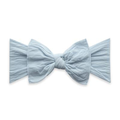 Baby Bling Chambray Knot Bow