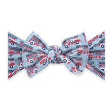 Load image into Gallery viewer, Baby Bling Printed Knot Bow