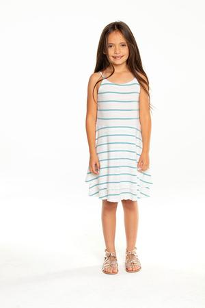 Chaser Flouncy Cami Mini Dress Stripe