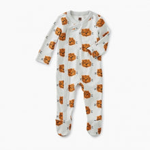 Load image into Gallery viewer, Tea Footed Romper Cuddly Cubs