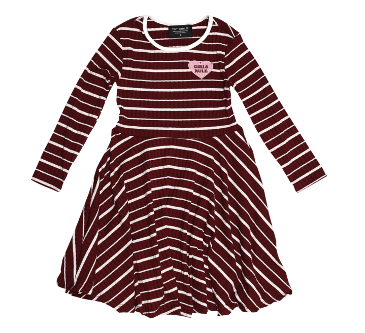 Tiny Whales Girls Rule Skater Dress
