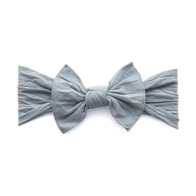 Baby Bling Grey Knot Bow