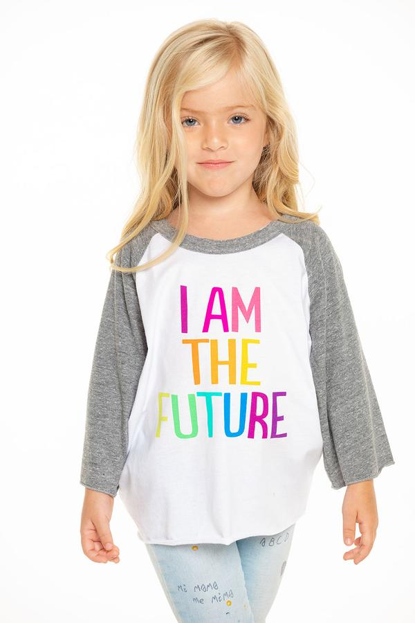 Chaser Girls Flounce Sleeve I Am The Future