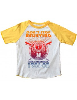 Rowdy Sprout Journey Don't Stop Believing  Raglan Tee - Precious + Posh