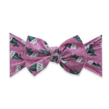 Load image into Gallery viewer, Baby Bling Kitty Printed Knot Bow