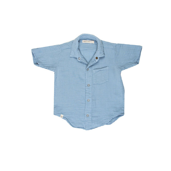 Lennon & Wolfe, Frankie Short Sleeve Button Up- More Colors Available - Precious + Posh