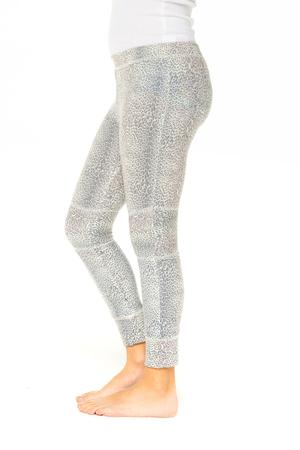 Chaser Girls Love Knit Moto Legging w/Rib Animal Print