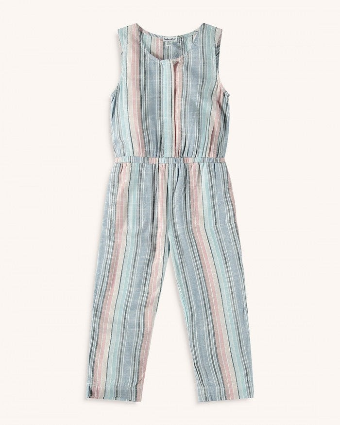 Splendid Little Girl Woven Stripe Jumpsuit RYO2197