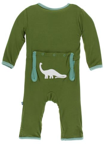 Applique Coverall with Zipper