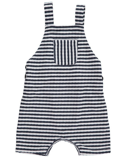 Me & Henry Navy Striped Shortie Overall