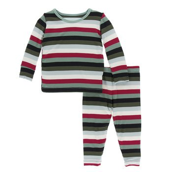 Kickee Pants Christmas Multistripe