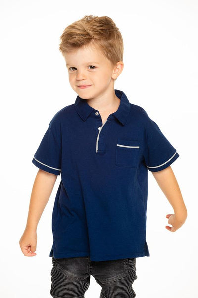 Chaser Boys Pocket Polo With Piping