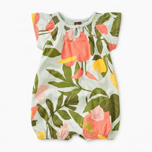 Load image into Gallery viewer, Tea Collection Printed Smocked Romper Tropical Garden