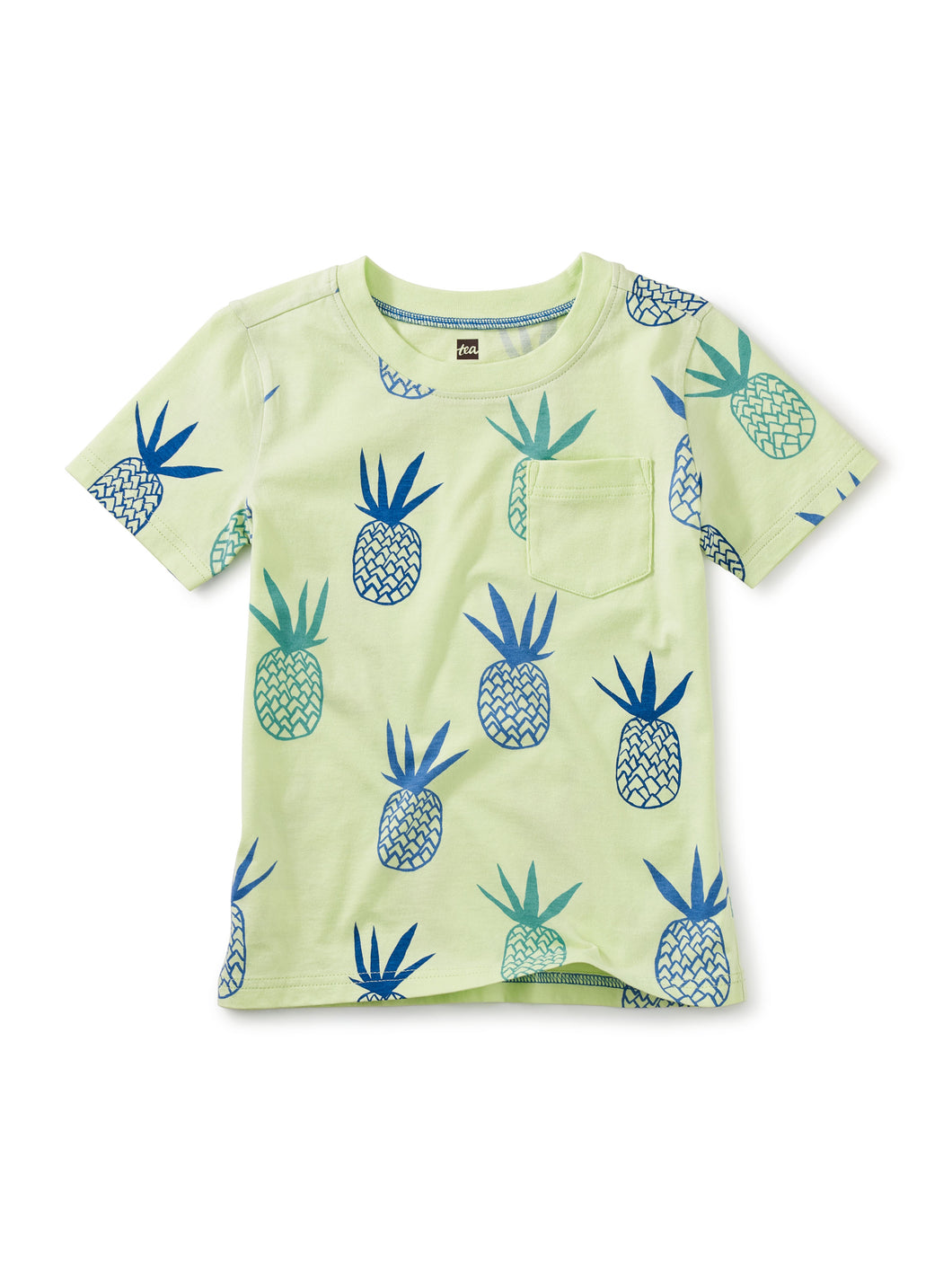 Tea Printed Pocket Tee Pineapples in Portugal