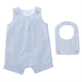 Mud Pie Light Blue Shortall With Bib