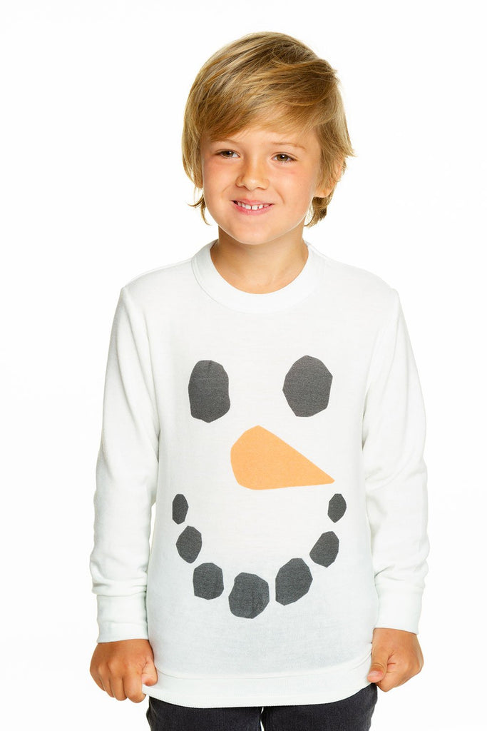 Chaser Snowman Crew Neck Pullover