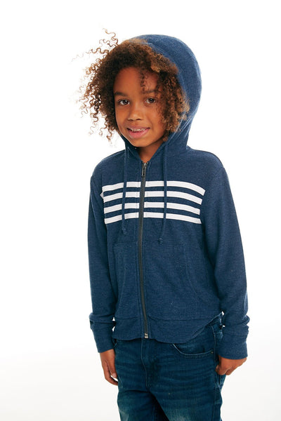Chaser Zip Up Hoodie with Strappings