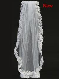 T305 Veil with Corded Lace on Comb