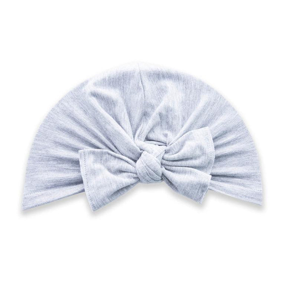Baby Bling Knot Turban Heather Grey