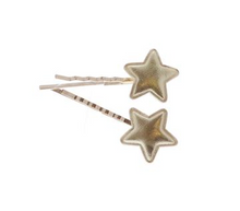 Load image into Gallery viewer, Doe A Dear - Metallic Star Bobby Pin Pair - Precious + Posh
