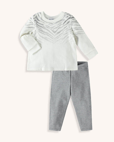 Splendid Baby Girl Zebra Top Set