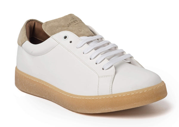 White Beige Sneakers for Men - Main 2829-MW - Jared Lang