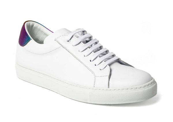 White Leather Sneakers for Men 2828-WMC - Jared Lang