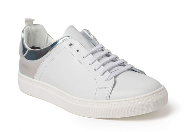 White Reflective Sneakers for Men 3838-WR - Main - Jared Lang