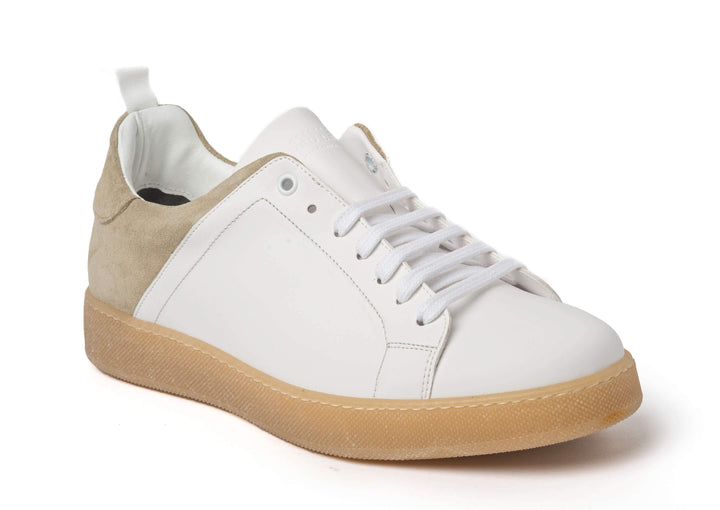 White Beige Sneakers for Men - Main 3839-WB - Jared Lang