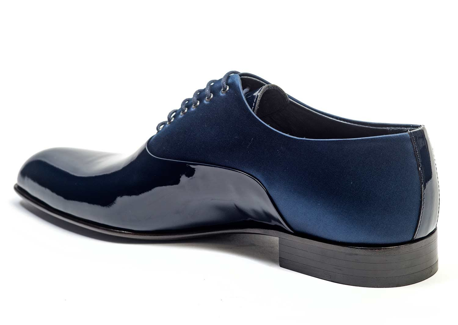 Navy Satin and Patent Leather Dress Shoes for Men - other side 51105-NV - Jared Lang