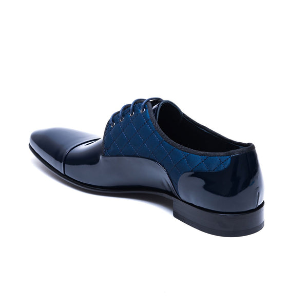 Tufted Navy Patent Formal Dress Shoes 8312-NV - Jared Lang