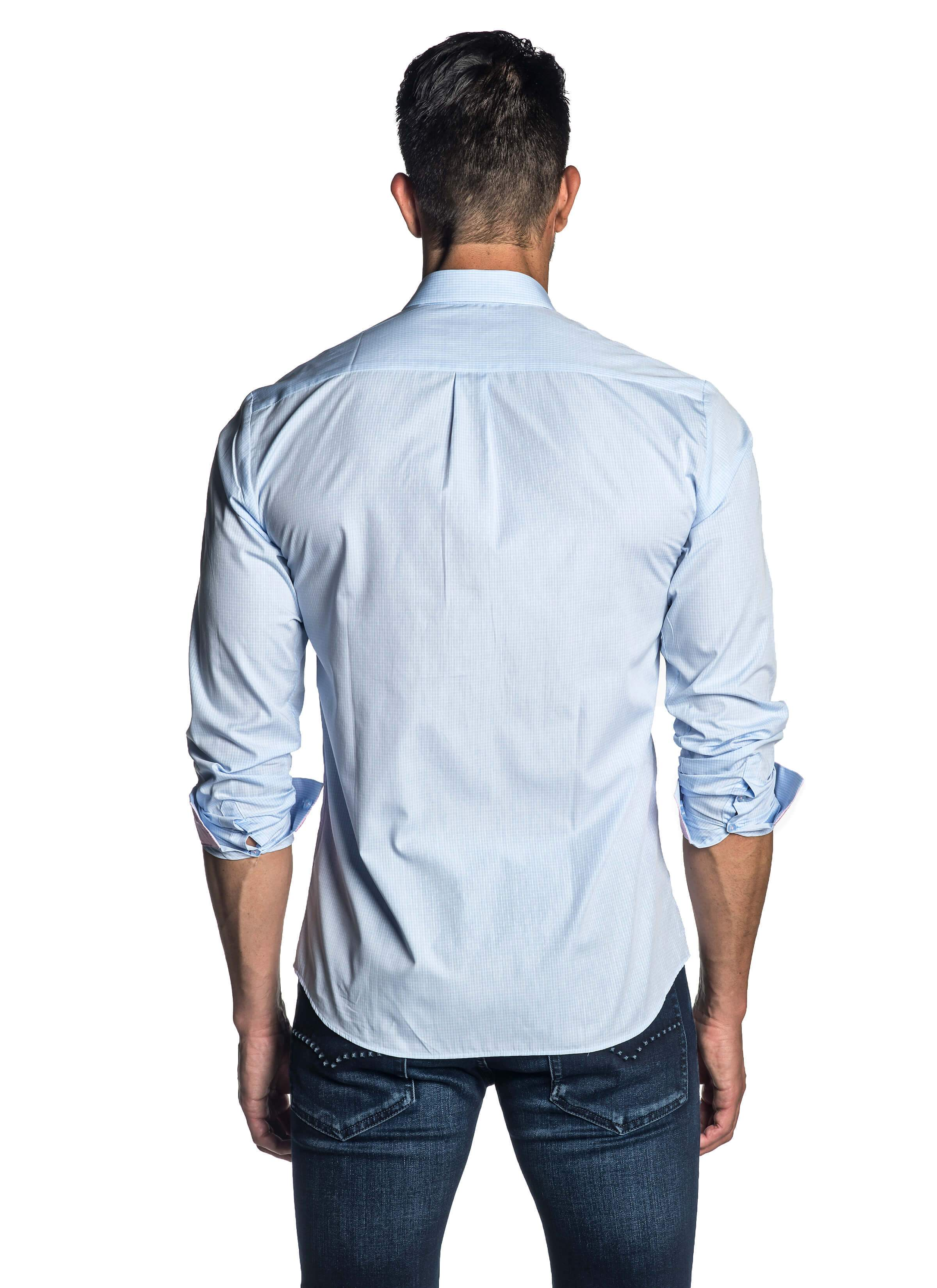 646d476db0d Light Blue Shirt for Men - back AH-C-2007 - Jared Lang