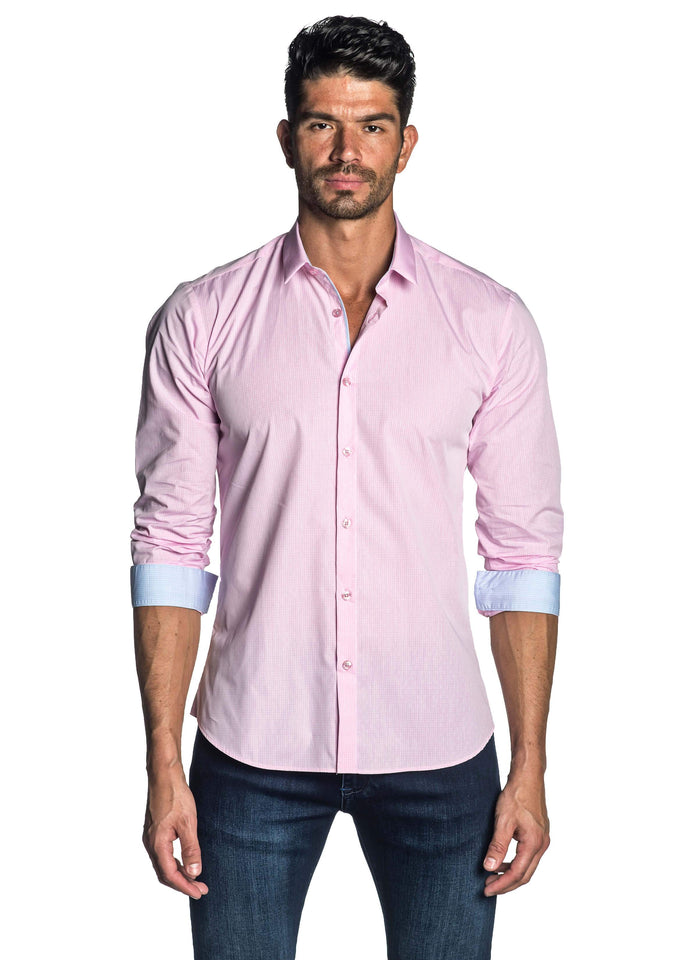 Pink Shirt for Men - front AH-C-2008 - Jared Lang