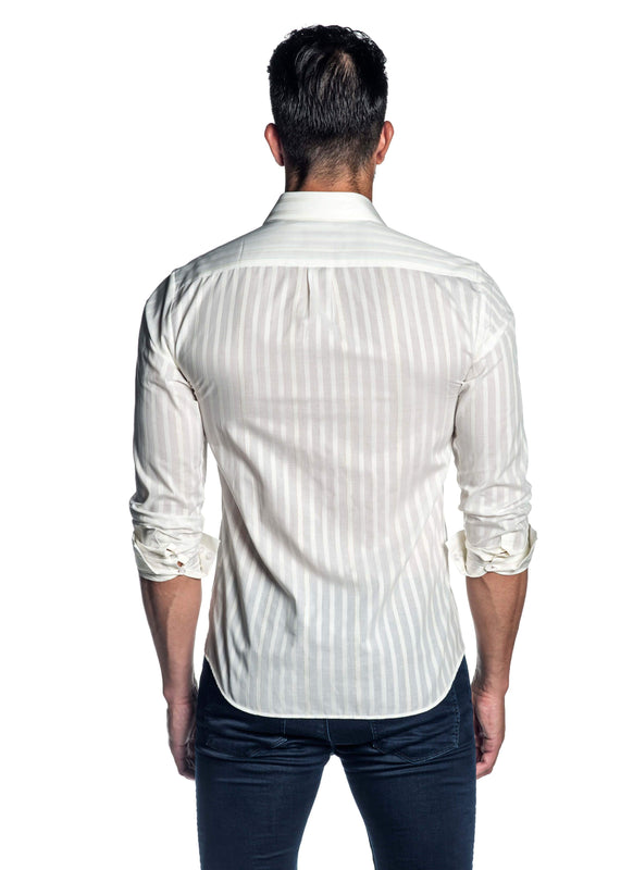 White Stripe Shirt for Men AH-ITA-T-9010 - Back - Jared Lang