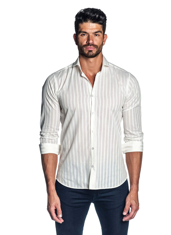 White Stripe Shirt for Men AH-ITA-T-9010 - Front - Jared Lang