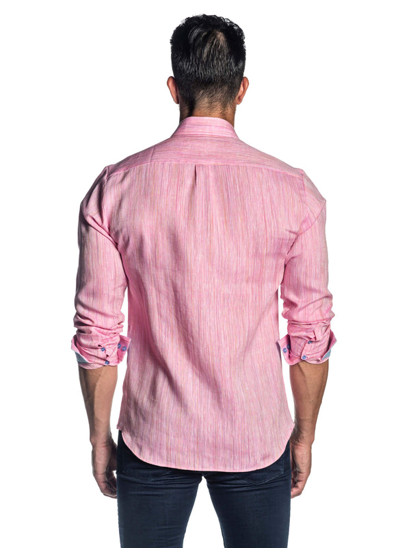 Pink Melange Shirt for Men AH-ITA-T-9014 - Back - Jared Lang