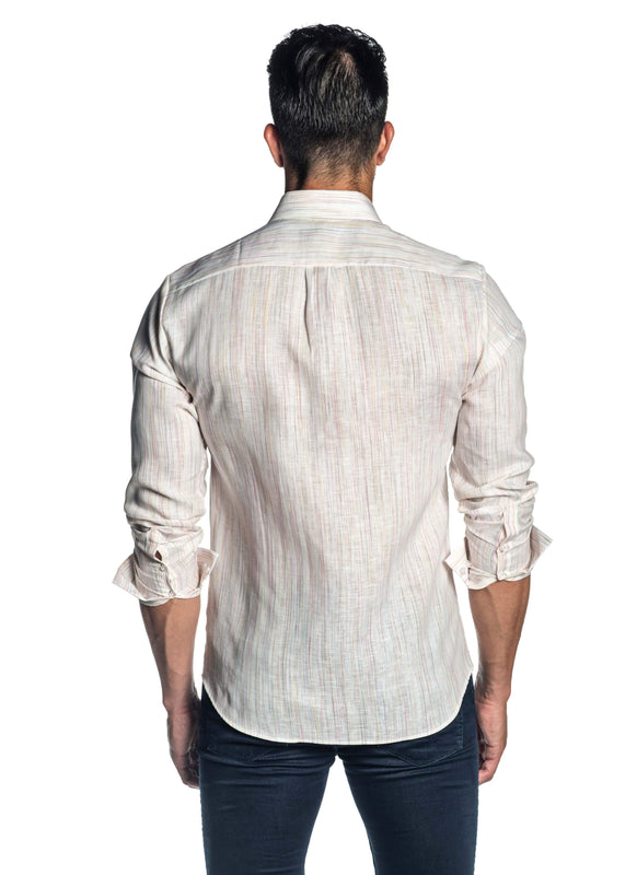 White Melange Shirt for Men AH-ITA-T-9015 - Back - Jared Lang