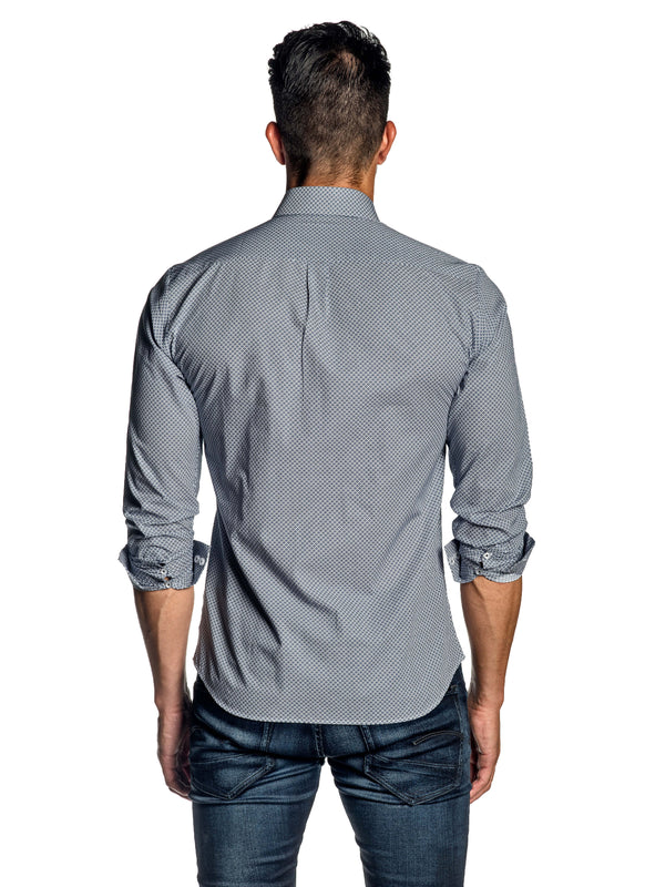 White Print Shirt for Men AH-ITA-T-9131 - Back - Jared Lang
