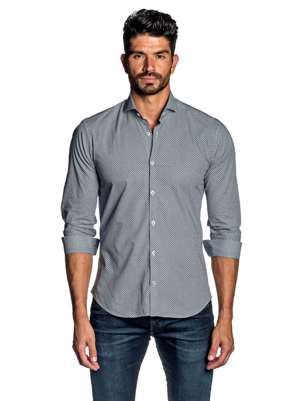 White Print Shirt for Men AH-ITA-T-9131 - Front - Jared Lang