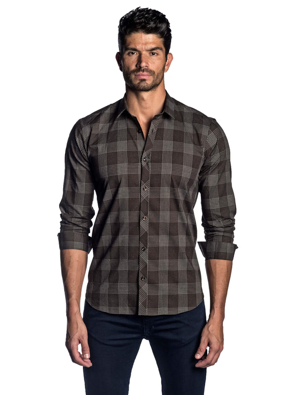 Brown Plaid Shirt for Men AH-OT-2041 - Jared Lang