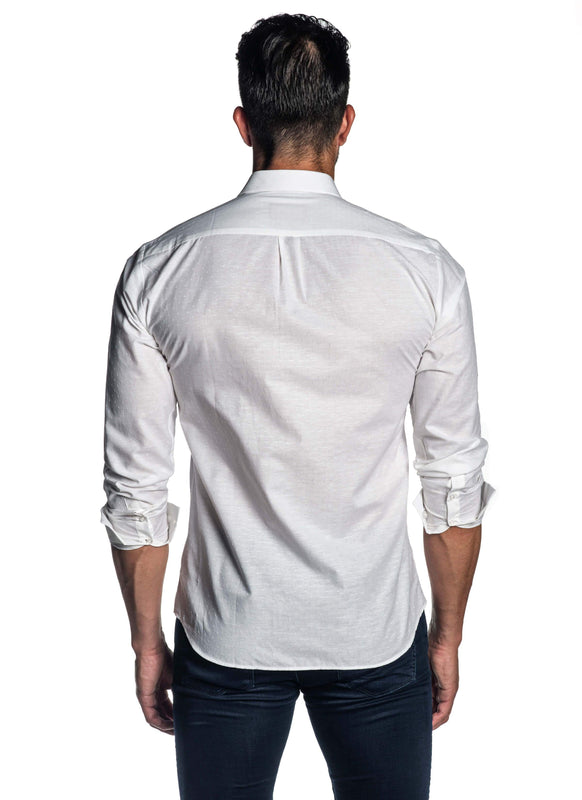 White Solid Shirt for Men AH-T-2055 - Back - Jared Lang