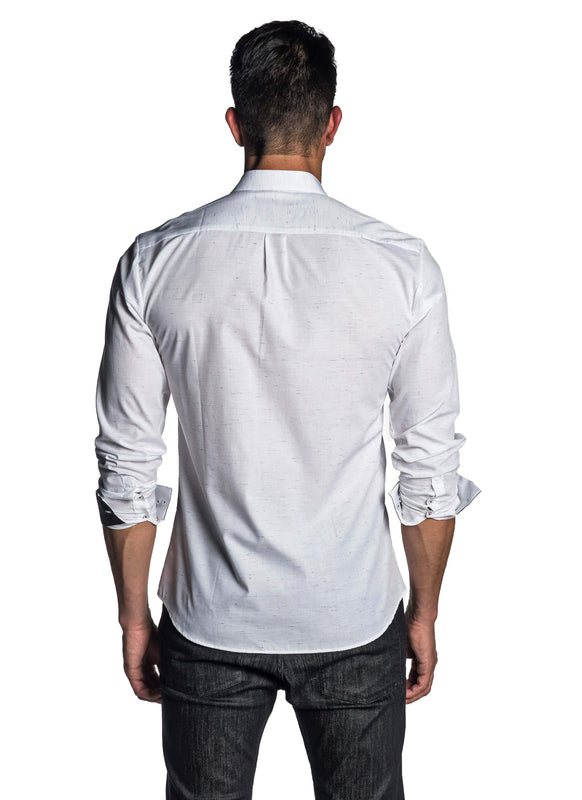 White Solid Shirt for Men - back AH-T-7041 - Jared Lang