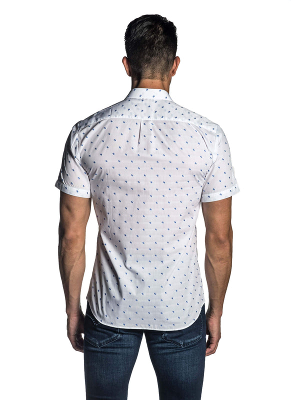 White Fil Coupe Short Sleeve Shirt for Men AH-T-7803-SS - Back - Jared Lang