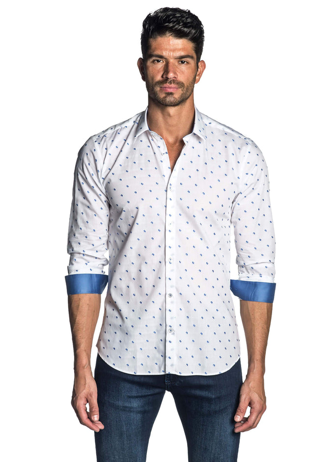 White Fil Coupe Shirt for Men - front AH-T-7803 - Jared Lang