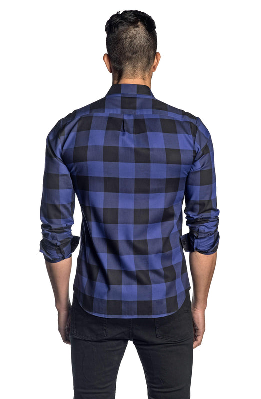 Purple and Black Plaid Shirt for Men AH-T-7815 - Jared Lang