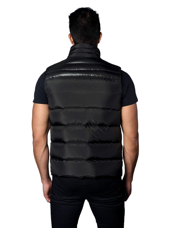 Black Down Quilted Vest Aspn 1A Back - Jared Lang