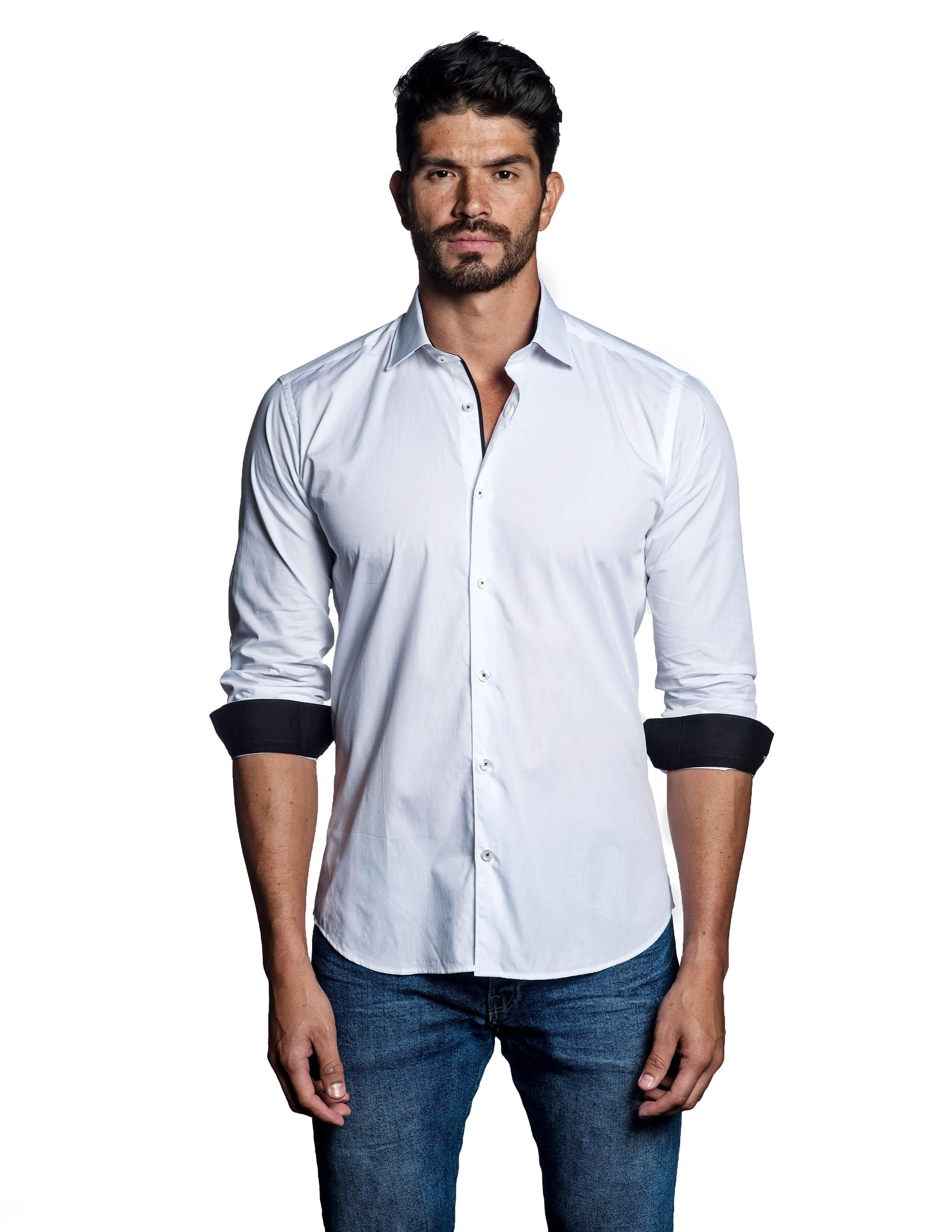 White Shirt for Men - front C-1620 - Jared Lang Collection