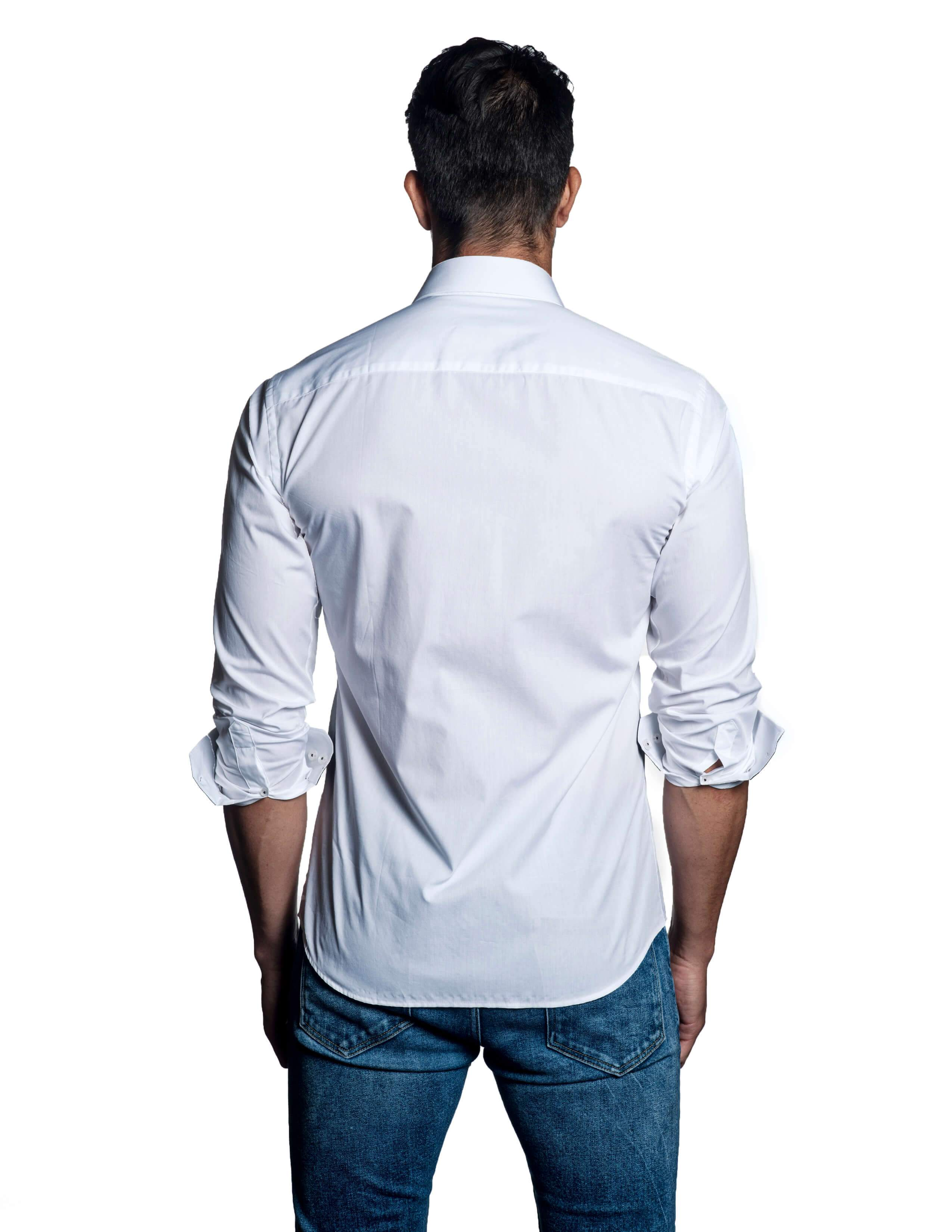White Shirt for Men - back C-1620 - Jared Lang Collection